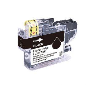 Brother LC-3217BK inktcartridge zwart met chip 15ml (huismerk) CBLC-3217BK