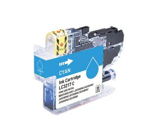 Brother LC-3217C inktcartridge cyaan met chip 9ml (huismerk) CBLC-3217C