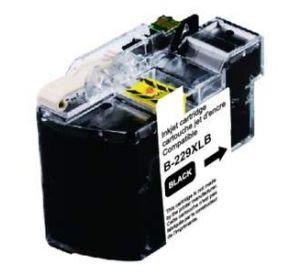 Brother LC-229XL BK inktcartridge zwart met chip 57,6ml (huismerk) BC-LC-0225XLBBK