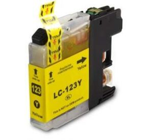 Brother LC-123Y inktcartridge geel 10ml (huismerk) BC-LC-0123Y