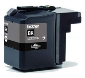 Brother LC-12EBK inktcartridge zwart (origineel) BLC-12EBK