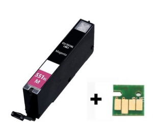 Canon CLI-551M XL inktcartridge magenta met chip 12 ml (huismerk) CC-CLI9-551Mc