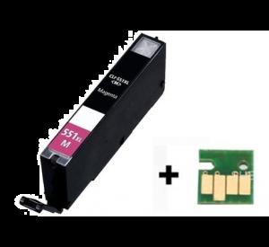 Canon CLI-551M XL inktcartridge magenta met chip 12 ml (huismerk) CC-CLI9-551Mc