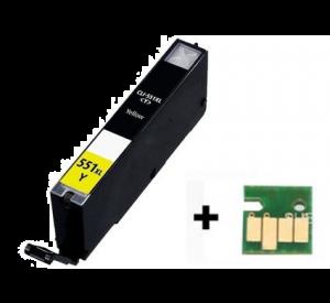 Canon CLI-551Y XL inktcartridge geel met chip 12 ml (huismerk) CC-CLI9-551Yc
