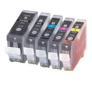 Canon PGI-5 / CLI-8 voordeelset 10 stuks MET CHIP (huismerk) CC-CLI8-VP10c