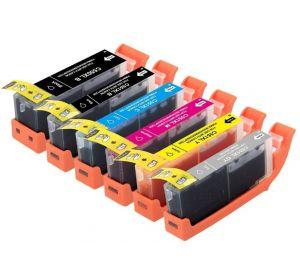 Canon PGI-550XL / CLI-551XL voordeelset 6 stuks met chip (huismerk) zelf samenstellen CC-CLI9a-VP06zelf3