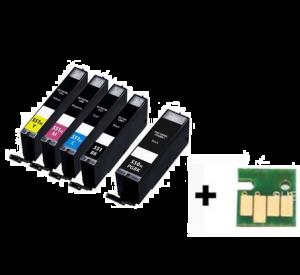 Canon PGI-550XL / CLI-551XL voordeelset 15 stuks met chip (huismerk) zelf samenstellen CC-CLI9b-VP15zelf