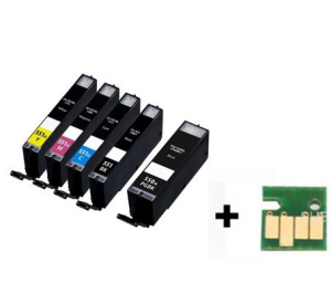 Canon PGI-550XL / CLI-551XL voordeelset 25 stuks met chip (huismerk) zelf samenstellen CC-CLI9b-VP25zelf