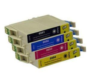 Epson T0551 - T0554 voordeelset 4 cartridges (huismerk) zelf samenstellen EC-T05561zelf