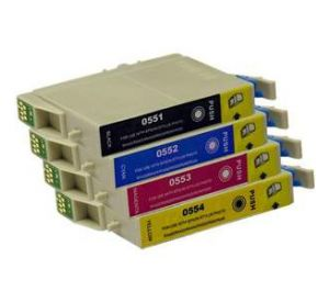 Epson T0551 - T0554 voordeelset 8 cartridges (huismerk) zelf samenstellen EC-T05562zelf