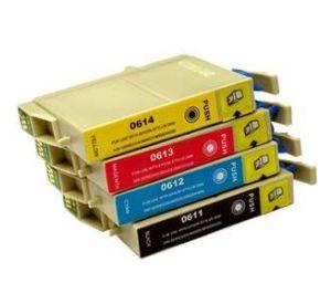 Epson T0611 - T0614 voordeelset 16 cartridges (huismerk) zelf samenstellen EC-T06154zelf