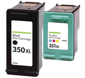 HP 350XL zwart en HP 351XL kleur inktcartridge hoge capaciteit (huismerk) CHP-350-351XL