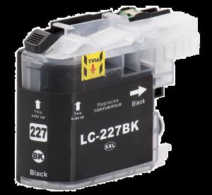 Brother LC-227XL BK inktcartridge zwart met chip 28ml (huismerk) BC-LC-0225XLABK