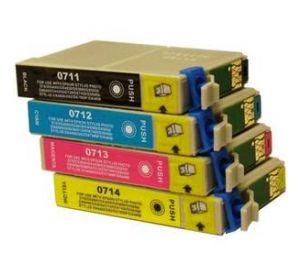 Epson T0711 - T0714 voordeelset 4 cartridges (huismerk) EC-T07151