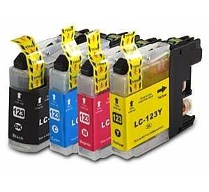 Brother LC-123 voordeelset 12 stuks met chip (huismerk) BC-LC-0123ZVP012